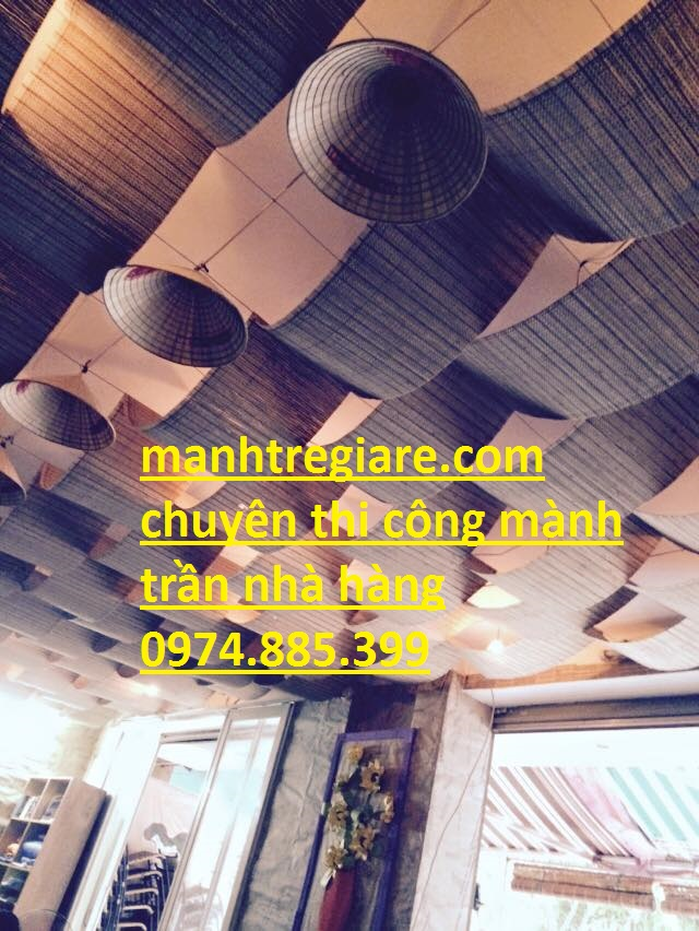 mành trần nhà hàng